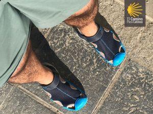 Calzado descanso ideal para el Camino de Santiago