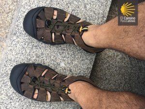 Sandalias camino santiago