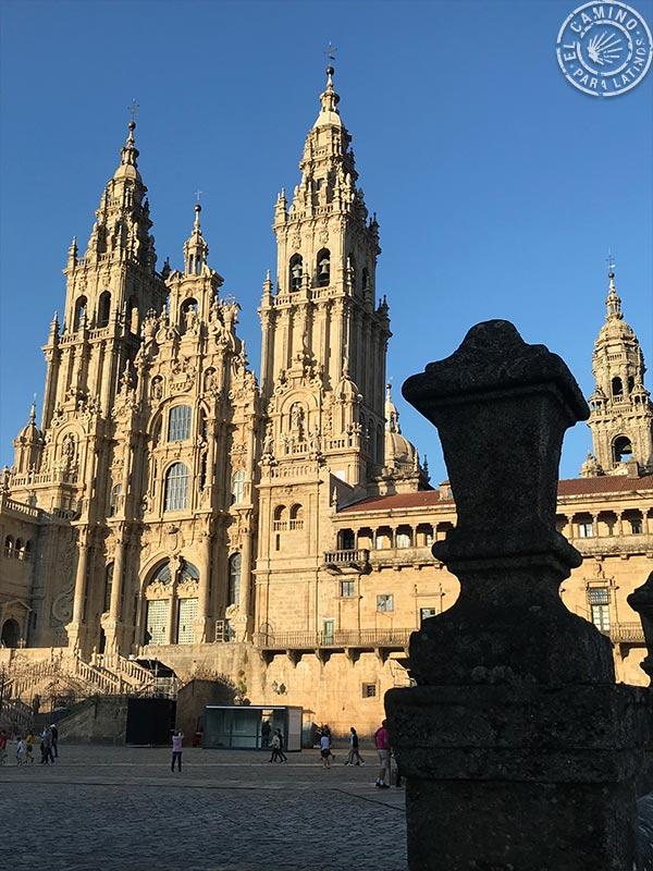 una buena foto con la Catedral de Santiago