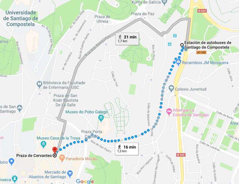 SOY PEREGRINO - ¿Cómo salir de Santiago de Compostela?